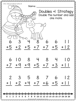 Christmas Addition Fact Strategy Practice FREEBIE!