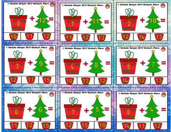 Christmas Addition Facts 11-20 Learning Centers and Activities