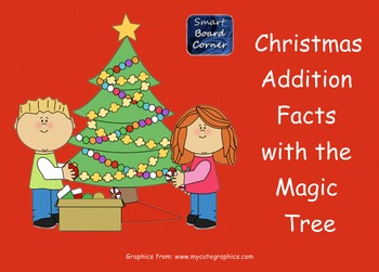 Christmas Addition Facts Magic Tree Smart Board Lesson