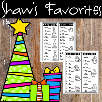 Christmas Addition Facts Task Cards