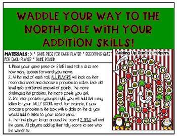 Christmas Addition Game