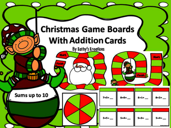 Christmas Addition Game -Sums Up TO 10