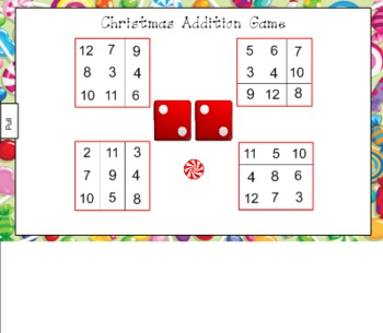 Christmas Addition Game for Smart Board