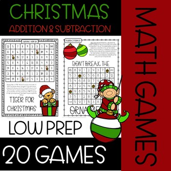 Christmas Addition & Subtraction Games {Math Games & Centers}