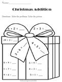 Christmas:  Addition Math Coloring Activtiy