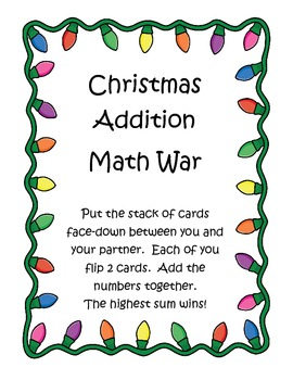 Christmas Addition Math War