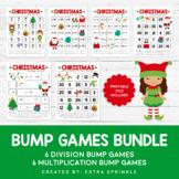 Christmas Addition & Multiplication Bump Games Bundle