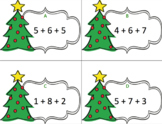 Christmas Addition Number Strings Task Cards: Make 10 to Add