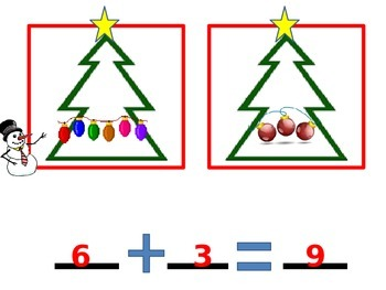 Christmas Addition PowerPoint with Student Worksheet