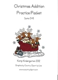Christmas Addition Practice Packet (Sums of 0-5)