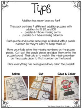 Christmas Addition Puzzles!