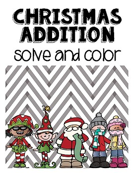 Christmas Addition Solve and Color