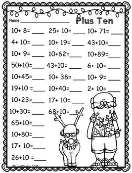 Christmas Addition Strategies Printables