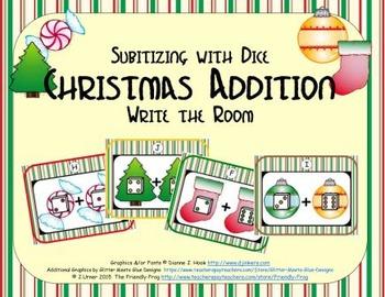 Christmas Addition {Subitizing with Dice}