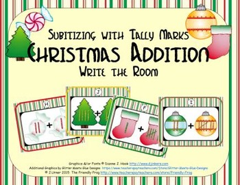 Christmas Addition {Subitizing with Tally Marks}