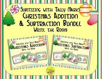 Christmas Addition & Subtraction Bundle {Subitizing with T