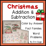Christmas Addition & Subtraction Math Practice for 1st and