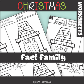 christmas additionsubtraction fact family worksheets with addition  christmas additionsubtraction fact family worksheets with addition to