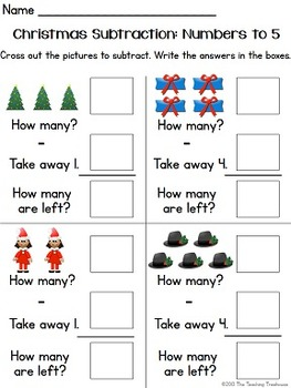 Christmas Addition & Subtraction Within 5