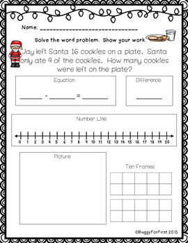Christmas Addition & Subtraction Word Problems (Common Core Aligned)
