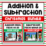 Christmas Addition & Subtraction within 20 Boom Cards Bundle