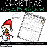 Christmas Addition & Subtraction Word Problems SAMPLE (Com