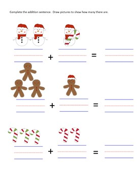 Christmas Addition Worksheet