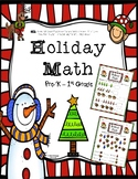 Christmas Addition Worksheets - Pre-K - 1st Grade (4 worksheets)