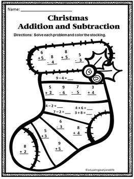Christmas - Addition and Subtraction