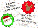 Christmas Addition and Subtraction Board Games