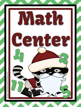 Christmas Addition and Subtraction Fact Families Center Game and Activity