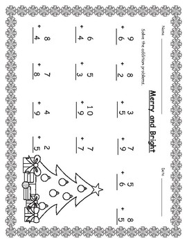 Christmas Addition and Subtraction First and Second Grade Bundle