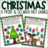 Christmas Print and Go Addition and Subtraction Games