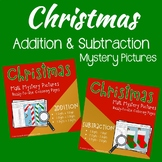 Addition And Subtraction Worksheets Color By Number Christmas Math Sheets