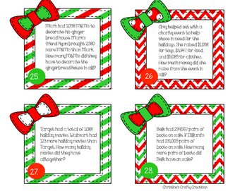 Christmas Addition and Subtraction Problems