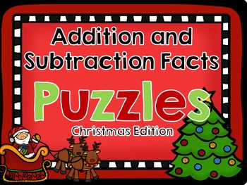 Christmas Addition and Subtraction Puzzles
