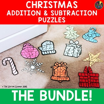 Christmas Addition and Subtraction Puzzles BUNDLE