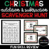 Christmas Addition and Subtraction Scavenger Hunt
