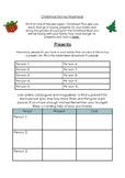 Christmas Addition and Subtraction Task
