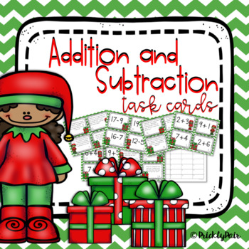 Christmas Addition and Subtraction Task Cards