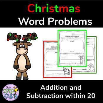 Christmas Addition and Subtraction Word Problems within 20