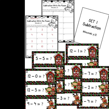 Christmas Addition and Subtraction Write the Rooms