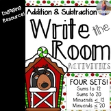 Christmas Math: Addition and Subtraction Write the Rooms