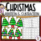 Christmas Addition and Subtraction - a Christmas Tree them
