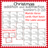 Christmas Addition and Subtraction Numbers 0-20