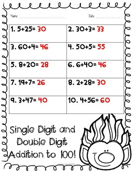 Christmas Addition and Subtraction practice