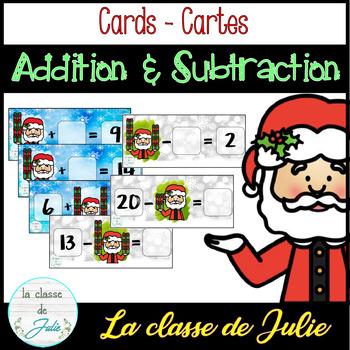 Christmas Addition & Subtraction - [1-20] - Addition et soustraction de Noël