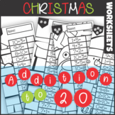 Christmas Addition to 20 Worksheets