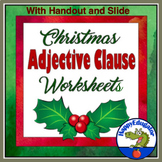 Christmas Adjective Clause Worksheet