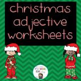 Christmas Adjective Worksheets